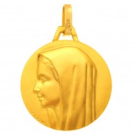Médaille Vierge au voile (Or Jaune)