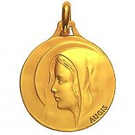 Médaille Augis Vierge au voile (Or Jaune)