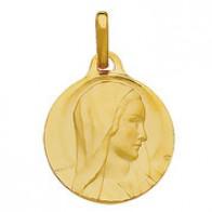 Médaille Vierge Marie au voile (Or Jaune)