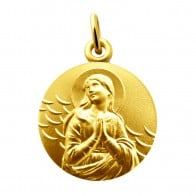 Médaille Vierge L' Ave Maria (Or Jaune)