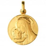 Médaille Vierge de Botticelli 18mm (Or Jaune)