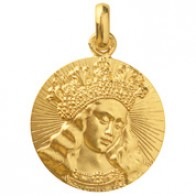Médaille Vierge de Van Eyck (Or Jaune)