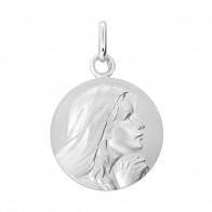 Médaille Vierge en prière aux mains jointes (Argent)