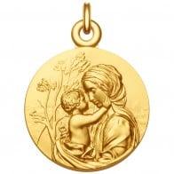 Médaille Vierge à l'Enfant Le Regard