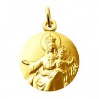 Médaille Vierge et l'enfant aux Scapulaires (or jaune)