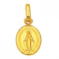 Médaille Vierge Miraculeuse (Or Jaune)