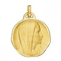 Médaille Vierge en cachet 17mm (Or Jaune)