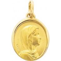 Médaille Vierge Ovale (Or Jaune 9k)