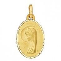 Médaille Vierge Ovale (Or Jaune)