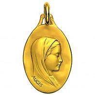 Médaille Vierge au voile ovale 16mm (Or Jaune)