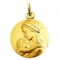 Médaille Vierge et l'enfant tendresse (Vermeil)