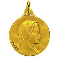 Médaille Augis Vierge (Or Jaune)