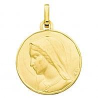 Médaille Vierge priante (Or Jaune)