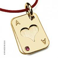 Pendentif Poker Coeur (or Jaune)