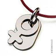 Pendentif Sex Symbol Girl (Or Blanc)