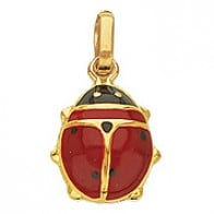 Pendentif Coccinelle Rouge (Or Jaune)