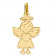 Pendentif ange petite fille (Or Jaune 9K)