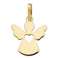 Pendentif Petit Ange Coeur (Or Jaune 9 carats)