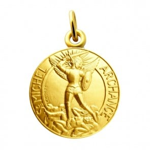 Médaille Archange Saint Michel Martineau (Or Jaune)
