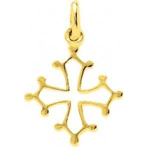 Pendentif Croix Occitane or jaune 9 carats