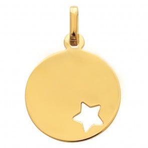 Médaille jeton étoile ajourée (Or jaune)