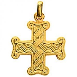 Croix Byzantine (Or Jaune)