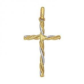 Croix Ciselée (Or Blanc)