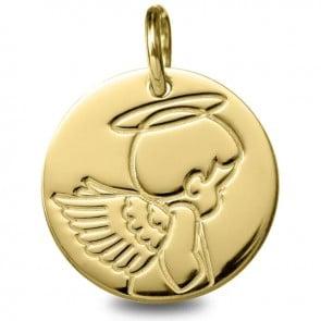 Médaille ange garçon (Or Jaune 9K)