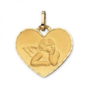 Médaille Ange coeur (Or Jaune 9k)
