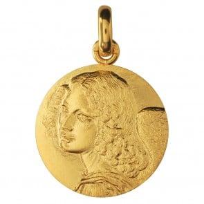 Médaille Ange de Léonard de Vinci (Or Jaune)