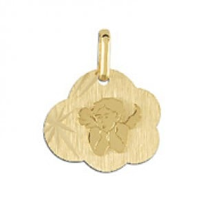 Médaille ange nuage (Or Jaune)