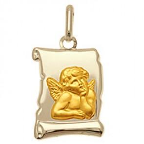 Médaille Ange Parchemin deux ors