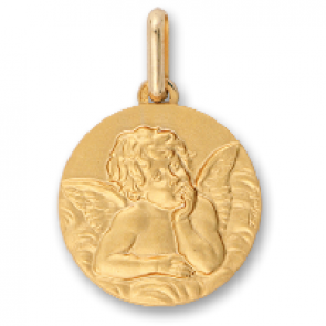 Médaille Ange Pensif Raphael (Or Jaune 9K)