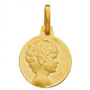 Médaille Ange Chérubin (Or Jaune)