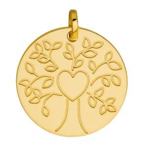 Médaille Le coeur de l'arbre (Or jaune 9K)