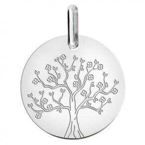 Médaille arbre de vie en fleurs