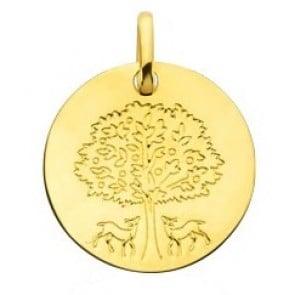 Médaille l'arbre de vie protecteur (Or Jaune)