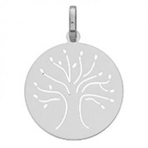 Médaille arbre de vie (Or Blanc)
