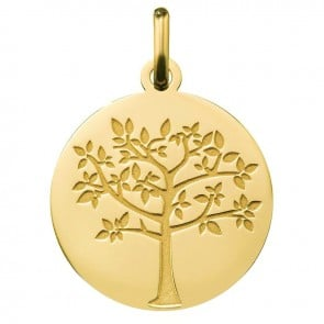 Médaille arbre de vie printanier (Or Jaune)