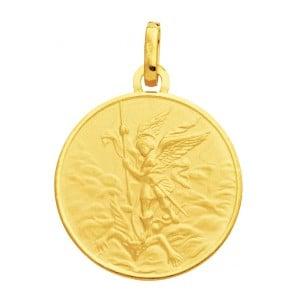 Médaille Archange Saint-Michel (Or Jaune)