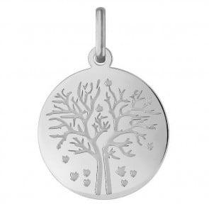 Médaille Arbre de la Vie les 4 saisons : automne (Or Blanc)