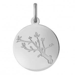 Médaille Rameau d'olivier (Or Blanc)