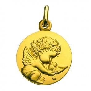 Médaille Ange à la Colombe (Or Jaune)