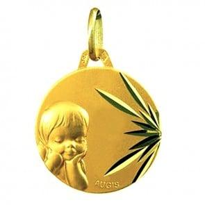 Médaille Chérubin ciselée (Or Jaune)