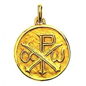 Médaille Monogramme du Christ (Or Jaune)