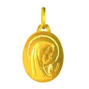 Médaille Augis Vierge ovale (Or Jaune)