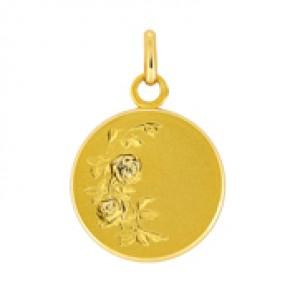 Médaille à la rose (Or Jaune)