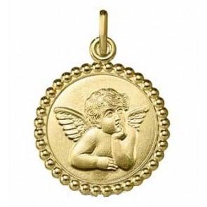 Médaille Ange Raphaël Perlée (Or Jaune)