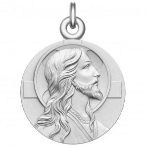 Medaille de Bapteme Le Christ en argent massif
