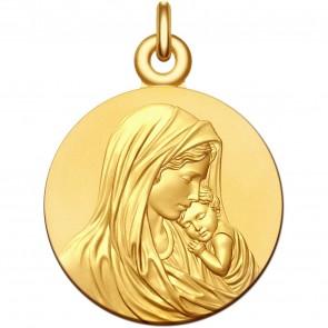 Medaille bapteme Vierge à l'Enfant Apaisé